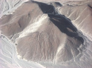 Friendly Wave from Nazca Lines Peru