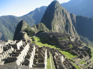 Machu Picchu Peru from Above