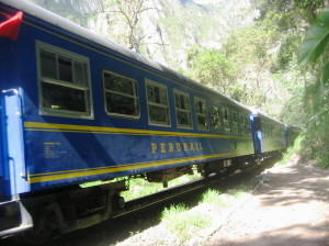 Perurail train to Machu Picchu