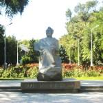 Bishkek-park and statue