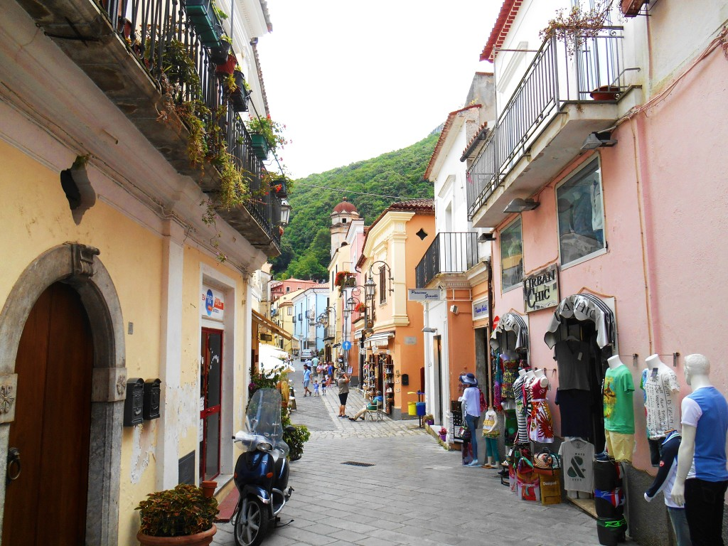 Narrow streets of Maratea, Italy