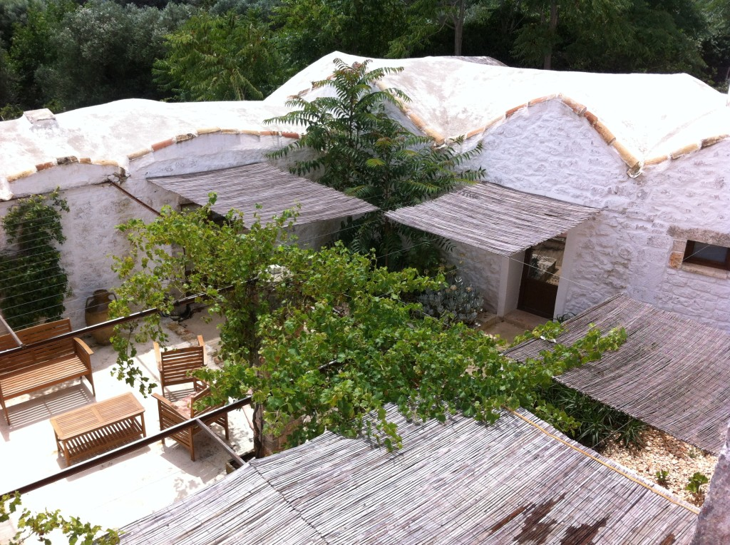 Masseria Genovese-patio from above