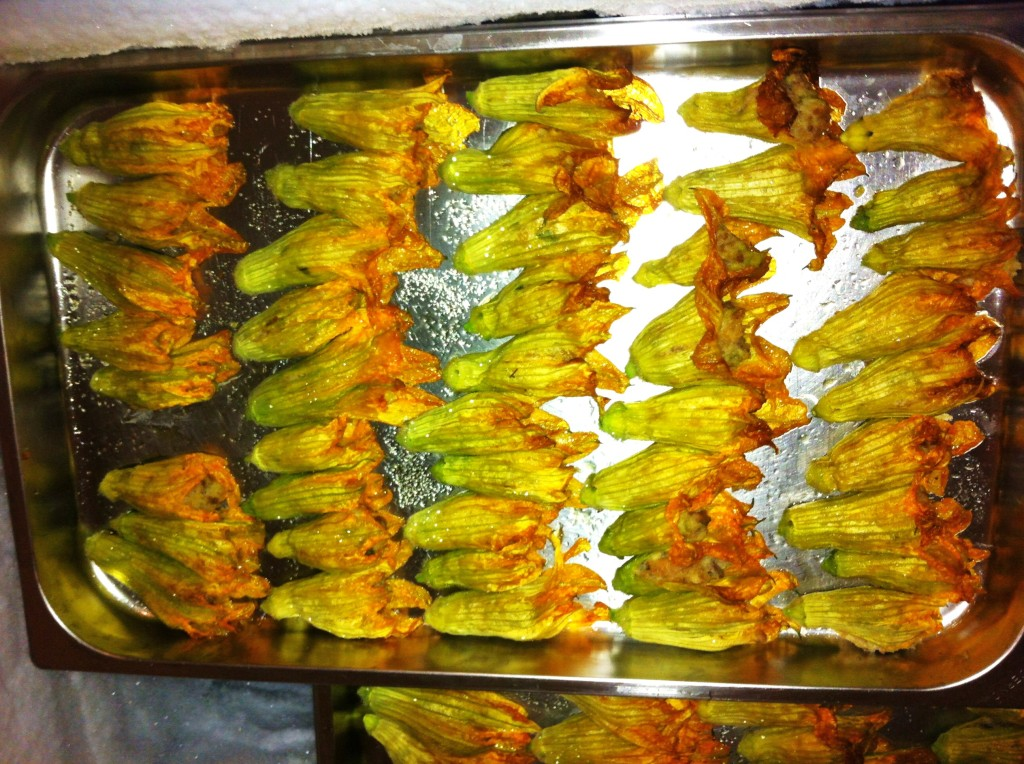Zucchini flowers, food at Agriturismo L'Arca