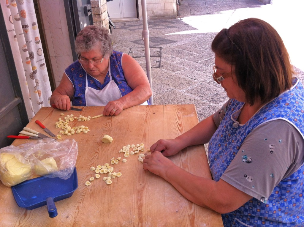 Afternoon making pasta the traditional way in Southern Italy