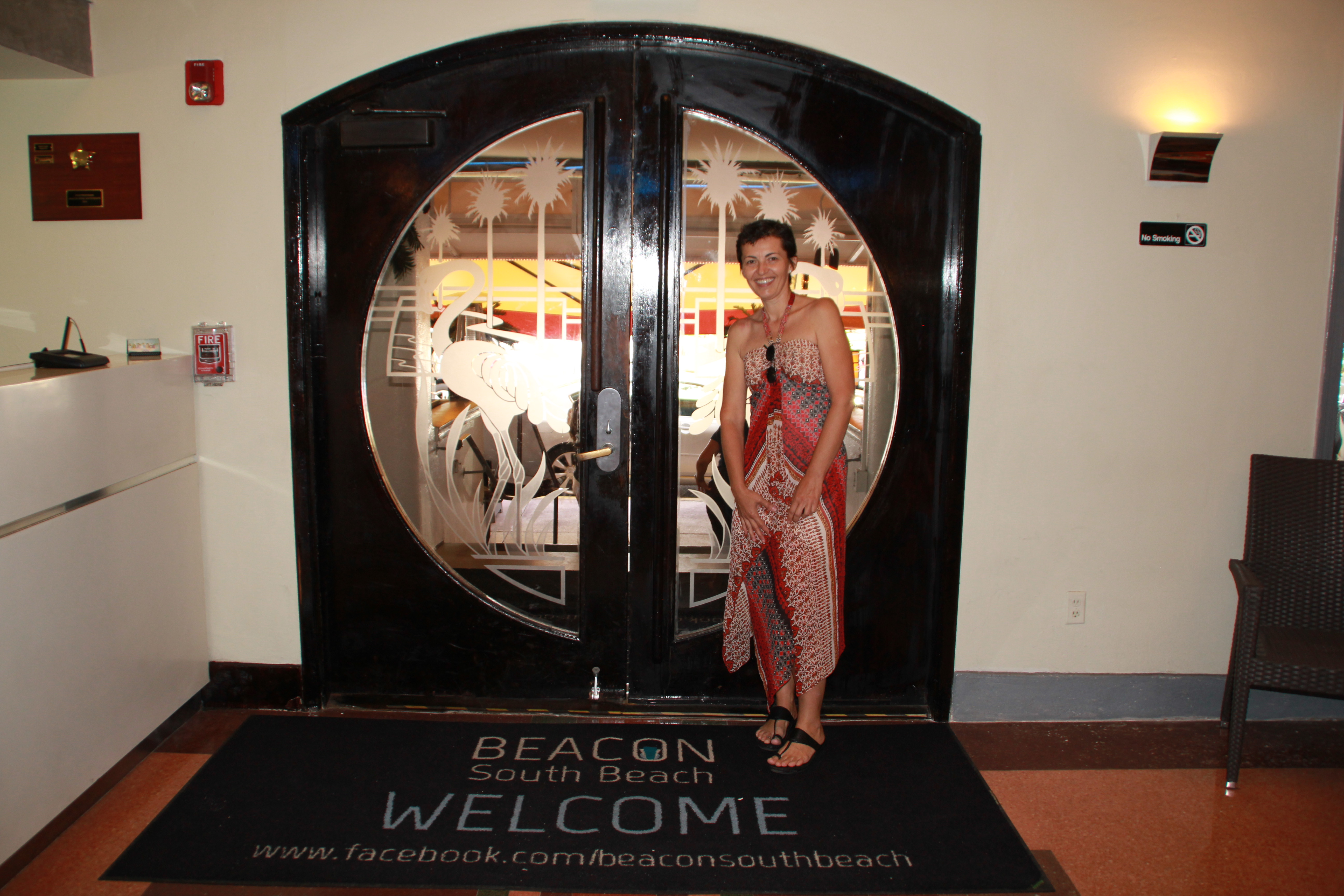 In The Lobby Of Beacon Hotel On Ocean Drive South Miami Beach